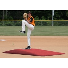 "Proper Pitch 818001TC Tapered Game Mound Junior, 9'L x 5'4""W X 6""H, Clay"