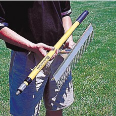 "Midwest 36""W Collapsible Base Runner Infield Rake"