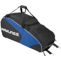 "Rawlings WHWB2 Workhorse Equipment Bag w/ Wheels, 37""L x 14""W x 16""H"