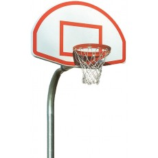 Bison PR52 4-1/2'' Gooseneck Basketball Hoop w/ Fan Backboard