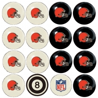 Cleveland Browns NFL Home vs Away Billiard Ball Set
