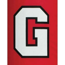 Fisher 2 COLOR BLOCK Vinyl Lettering for Football Goal Post Pads