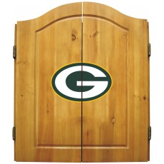 Green Bay Packers NFL Dartboard Cabinet Set