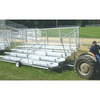 Transportable DELUXE Bleacher, 5-Row, 21'