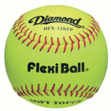 "Diamond DFX-12RFP Flexi Ball Leather Softball, 12"", dz"