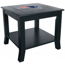 New England Patriots NFL Hardwood Side/End Table