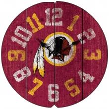 Washington Redskins Vintage Round Clock