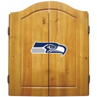 Seattle Seahawks NFL Dartboard Cabinet Set