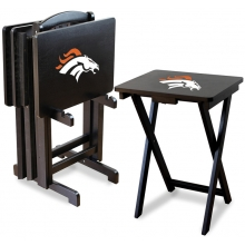 Denver Broncos NFL TV Snack Tray/Table Set