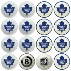 Toronto Maple Leafs NHL Home vs Away Billiard Ball Set