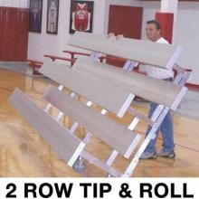 2 Row, 9' STANDARD Tip & Roll Bleacher