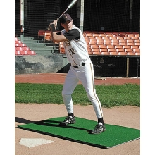 Softball Batter's Box Stance Turf Mat, 3' x 7'