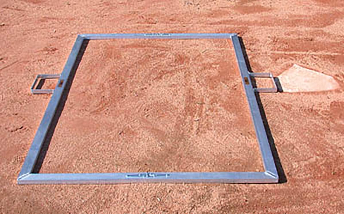 Jaypro BBTMOFF Folding Batter\'s Box Template, Adult Baseball, 4\' x 6\'