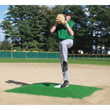 "Promounds MP3002G Minor League Game Mound, 6'L x 5'W x 6""H, Green"