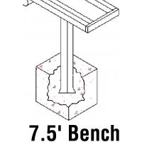 Jaypro PB-80PI Aluminum Player Bench w/ Backrest, PERMANENT, 7.5'