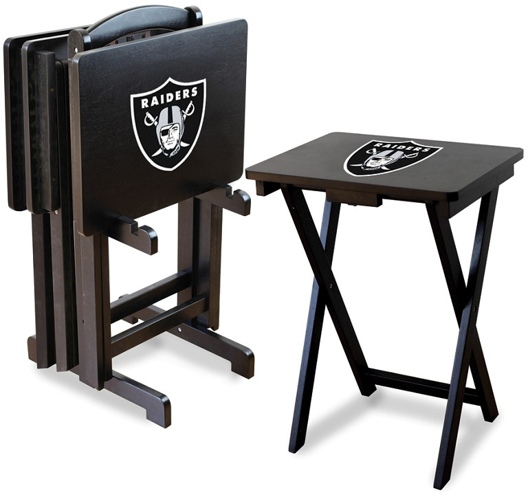 sc 1 st  Anthem Sports & Oakland Raiders NFL TV Snack Tray/Table Set