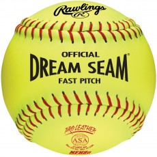 Rawlings C12RYLAH 47/375 Dream Seam Leather 12'' Fastpitch Softballs, dz
