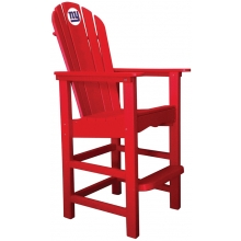 New York Giants NFL Outdoor Pub Captains Chair, RED