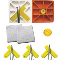 "Soft Touch S15DBL-SET 15"" Spike-Down Base Set w/ Double First Base"
