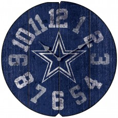 Dallas Cowboys Vintage Round Clock