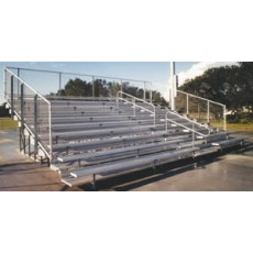 10 Row, 15' DELUXE Large Capacity Bleacher