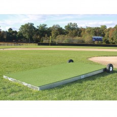 "Promounds MP2006 ProModel Portable Batting Practice Pitching Platform, 8'L x 4.5'W x 6""H, Green"