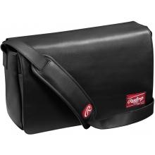 "Rawlings Black Leather Messenger Bag, 16""x10""x4.75"""