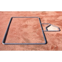 Batter's Box Layout Template, Adult Baseball, 4'W x 6'L
