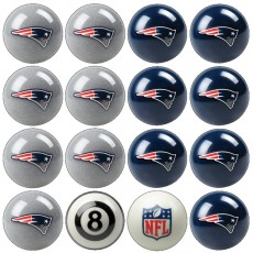 New England Patriots NFL Home vs Away Billiard Ball Set