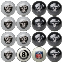 Oakland Raiders NFL Home vs Away Billiard Ball Set