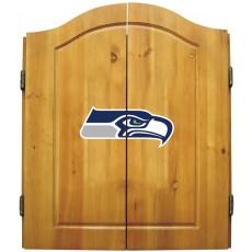 Seattle Seahawks NFL Dartboard Cabinet Set