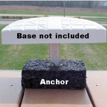 1269895 Rubber Baseball Base Anchor Foundations, Set of 3