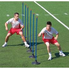 Kwik Goal Set/6 Premier Coaching Sticks w/ Rubber Bases, 16B22