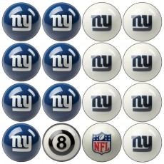 New York Giants NFL Home vs Away Billiard Ball Set