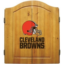 Cleveland Browns NFL Dartboard Cabinet Set