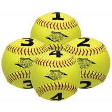 Diamond DTS-SB 1234 Numbered Training Softball Set