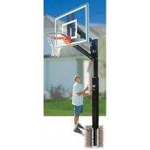 Bison BA8300-BK 4'' Zip Crank Residential Basketball Hoop