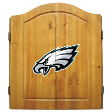 Philadelphia Eagles NFL Dartboard Cabinet Set
