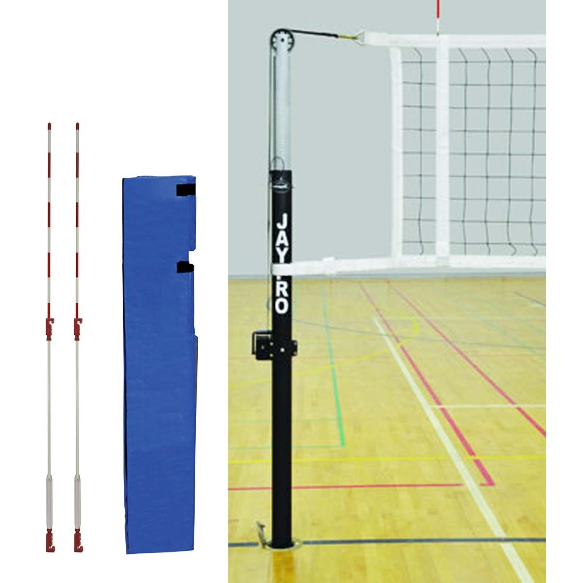 Jaypro PVB-5000 Featherlite Volleyball Net System
