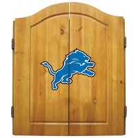 Detroit Lions NFL Dartboard Cabinet Set