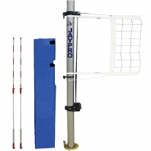 "Jaypro Multi-Purpose 3-1/2"" Volleyball Net System, PVB-1350LS"