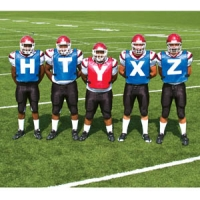 Fisher SV200 Football Scrimmage Scout Vests, set of 5