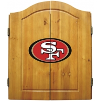 San Francisco 49ers NFL Dartboard Cabinet Set