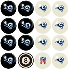 Los Angeles Rams NFL Home vs Away Billiard Ball Set