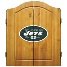 New York Jets NFL Dartboard Cabinet Set