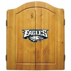 Philadelphia Eagles NFL Dartboard Cabinet Set