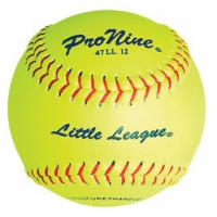 """Pro Nine 47 LL12 47/375 Official Little League Fastpitch Softballs, 12"""", dz"""