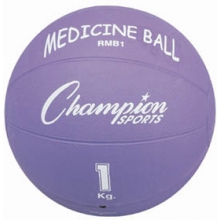 Champion 1 Kilo / 2 lb. Rubber Medicine Ball, RMB1