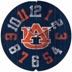 Vintage Round Clock, Auburn University, Tigers