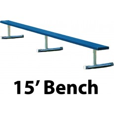 Aluminum Player Bench, Powder Coated, PORTABLE, 15'